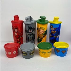 New !!!!Tupperware Justice League Snack Set